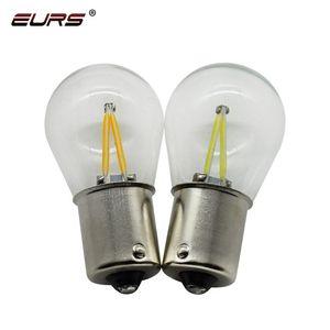 EURS 2pcs 1156 BA15S LED 1157 BAY15D Car LED Filament Light COB Bulbs Turn Signal Tail Brake Parking Reverse Lamp 12V White Red