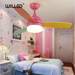 غرفة 42 بوصة سقف بقيادة مصباح مروحة ضوء 220V مراقبة الأطفال عن بعد مع أضواء 18W AC مراوح التبريد