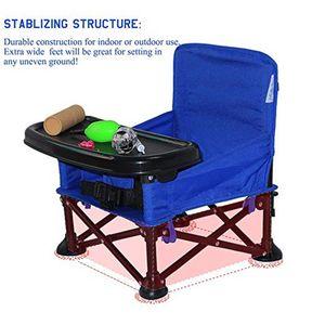 Metal Yaratıcı Çocuklar Katlanır Sandalye Portatif Bebek Yemek Masası sığ Fonksiyonlu Açık Yürüyüş Çocuk Koltuğu VT1637 Yemek