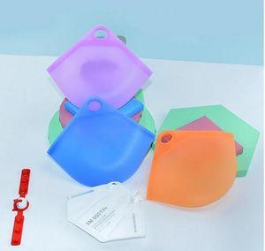 NEW 휴대용 얼굴 마스크, 실리콘 주최자 방진 및 방습 커버 홀더 케이스 보관 분리 세균 가방 도매