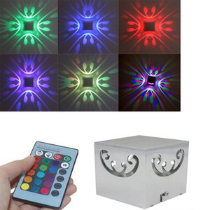 RGB Remote Control 3W LED Wall Lamp Butterfly Sconce Luces For Home Indoor Club Backlight Decor Night Lighting Lamparas Lights