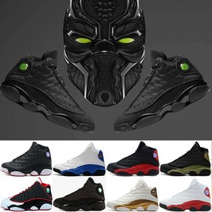 Wholesale 13 13S Men Basketball Shoes black cat bred Hyper Royal olive Playoffs He Got Game Chicago red Sneaker Athletic Sport Shoes sneaker