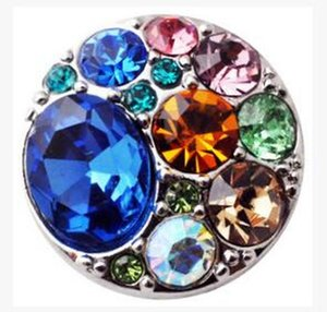 New Snap Button Charms Jewelry High Quality Crystal 18mm Metal Noosa Chunk Rhinestone Styles Ginger Snaps Bracelets for Women