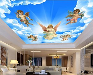 3d Wallpaper Beautiful Angels and Little Angels Spread the Gospel of Love Custom European-style Zenith Environmental Protection Wallpaper