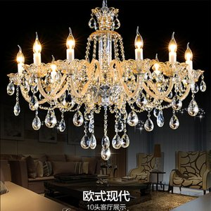 romantic champagne crystal chandelier chain Lustre Light manor clubhouse lights bedroom K9 Crystal chandelier chains
