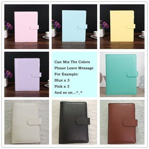 A6 8 Styles Creative Waterproof Macarons Binder Hand Ledger Notebook Shell Loose-leaf Notepad Journal Stationery Cover School Office Supplie