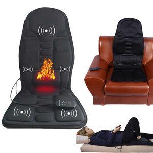 Electric massage chair home car Chair Massager spine Chairs Seat belt Vibrator Back Neck massagem Cushion Heat Pad machine