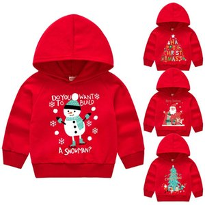 sweatshirts for girls toddler hoodie kids sweatshirt cotton Christmas pullover boys clothes Santa Claus tops spring autumn 2-7T