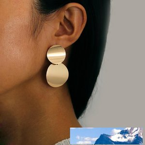 Ornaments Concise Fund Metallic Element Exaggeration Earrings Woman