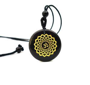 30mm High quality natural stone quartz white crystal pendant pendulum flower of life pendants 7 chakra pendule Ms33