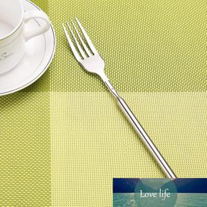 DIY Stainless Steel Telescopic Extendable Dinner Fruit Dessert Long Fork Novelty Cutlery