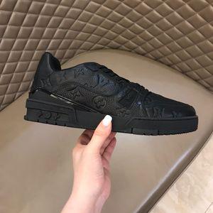 Moda Sapatos Masculinos Low Top Hip Hop Shoes Mannen Schoenen LV Mens Casual Men Flats Shose couro genuíno formadores Sneakers Homem