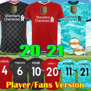 Player Fans version 2021 VIRGIL THIAGO DIOGO J LVP Liverpool Third top kit FIRMINO 20 21 Salah MANE maglia da calcio ALEXANDER-ARNOLD kit