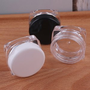 5pcs Empty plastic square 3g cream pot loose jar refill container cosmetic packing