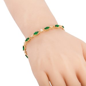 High Quality Gold Or Silver Electroplated Copper Bracelet Marquise Zircon Bracelet Gift Bracelet Friendship Chain