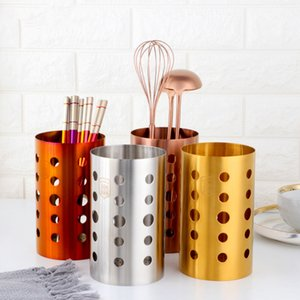 1PC Stainless Steel Kitchen Chopsticks Tube Tableware Storage Draining Rack Shovel Spoon Knife Fork Storage Box Kitchen Utensils