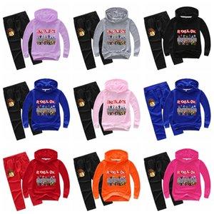 2pcs-set Boys girls Sweatshirt Spring and Autumn Hoodie sweater suit kids Birthday suit Teen Long Sleeve Clothing Sets