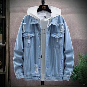 Men's Jackets Men Jacket Coat Trendy Denim Single Breasted Spring Autumn Fashion Mens Lapel Jean Outwear Male Cowboy