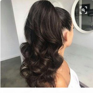Body Wave Ponytail 100% Human Hair Drawstring Ponytail Hair Pieces With Clips in For Women Brazilian Non Remy Hair 1 Piece 160g