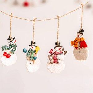 Рождественская елка Красный Beads Pendant Innovative Санта-Клаус снеговика Окрашенные украшения двери шкафа и окна Tag Home Decor
