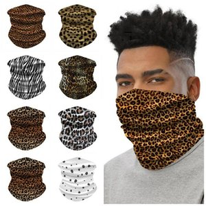 Leopard spot ice silk riding outdoor sports wrist band multi-purpose magic scarf Party Masks BWC18