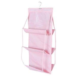 1pc 6 Grid Hanging Purse Handbag Tote Bag Storage Organizer Closet Rack Dust Bag Hanging Handbag Organizer