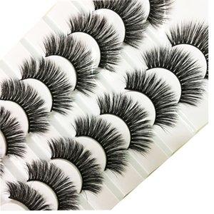 Selling 4D Fibre False Eyelashes 8 Pairs of Electrical Eyes Natural Lifelike Thick Comfortable False Eyelashes