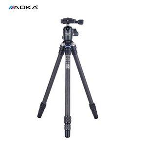 Aoka CMP163L trípode portátil de fibra de carbono trípodes de cámara se coloca con KB20 Ball Head 3 Sección cargamento máximo de 3 kg