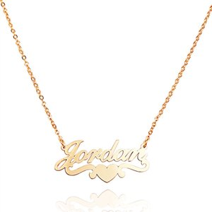 Hot Sale Cross-border selling 2020 in Europe and the personality DIY custom necklace manufacturers selling chain necklace clavicle love