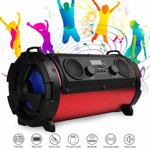 Outdoor Portable Subwoofer Column bluetooth Speaker Wireless Powerful Sports Speakers Radio FM AUX USB Karaoke player