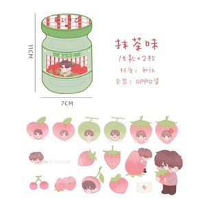 Strawberry Decorative Label Scrapbooking Pcs Stick Seriess Stationery Boy Stickers Diary Album Taste Journal Stickers 40 Can HNJVY yh_pack