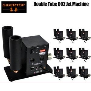 10pcs / lot Double Buse CO2 Jet Machine de haute qualité DMX 512 CO2 JET 6M Tuyau Livraison Gratuite 90V-240V Cryo CO2 Jets Shot 90V / 240V TP-T27B