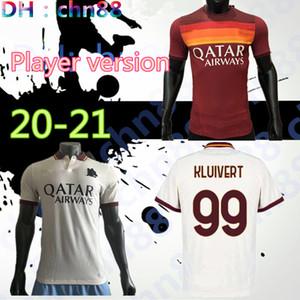 Player versão DZEKO PEROTTI PASTORE Zaniolo camisa de futebol roma 2020 2021 TOTTI camisa 20 camisa 21 de futebol de Rossi como maillot de pé roma