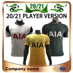 20/21 Player version Spurs Accueil SON Football Maillots 2020 Loin KANE LLORENTE DELE football chemise LUCAS personnalisée football uniforme