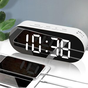 Clock Usb Sn Home Table Display Cable Alarm Digital Up Despertador Light Led Wake Mirror Time Large Decoration WAHmP bdetoys