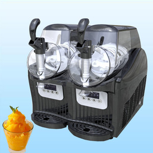 Hot Sale Commercial Snow Melting Machine 2L Two Tank Ice Slusher Cold Drink Dispenser Smoothies Slush Machine