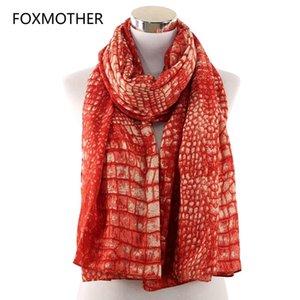 Шарфы Foxmother дама пашмины Orange Skin печать Для Wraps Нового Snake похитителя Foulard iCtjx bdehome