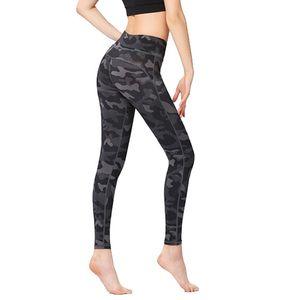 Women High Waist Yoga Leggings Pants with Pockets Tummy Control 4 Way Stretch Pants ZJ55