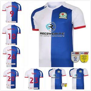 2020 2021 Blackburn Rovers Soccer Jerseys Armstong Brereton Holtby Dack Gallagher Lenihan Johnson Custom 20 21 Home Football Hemd