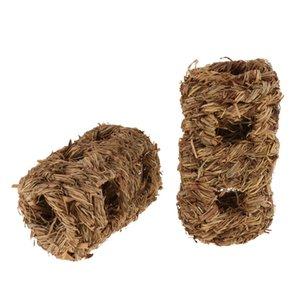 2 개 짠 잔디 햄스터 둥지 터널 장난감 토끼 햄스터 케이지 하우스 장난감을 씹어 서