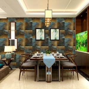 wellyu Retro nonwoven home decoration wallpaper KTV bar cafe TV square wall square project green 3d wallpaper papel de parede