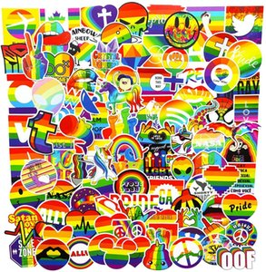100Pcs Regenbogen-Farb Lgbt Homosexuell Pride VSCO Aufkleber Satz Auto-Fahrrad-Gepäckaufkleber Laptop Skateboard Motor Wasser Auto Bottle Aufkleber