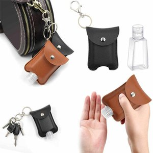 Travel Bottle And Keychain Holder Refillable Empty Bottles For Hand Sanitizer Organizer Keychain Key Rangement Zipper Bag DHC1748