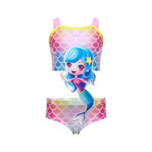 INS Mermaid Kids Swimwear cute girls swimwear girls swimsuits kids bikini swim suits kids bathing suits One-piece child sets beachwear B2347
