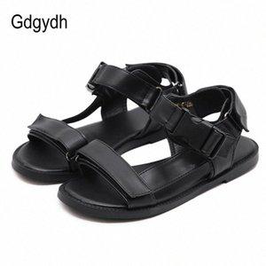 Gdgydh Moda gancho laço Verão Plano de dedo aberto calçados casuais Sandals Mulheres ao ar livre respirável Feminino Confortável Escola Estudante bbwm #