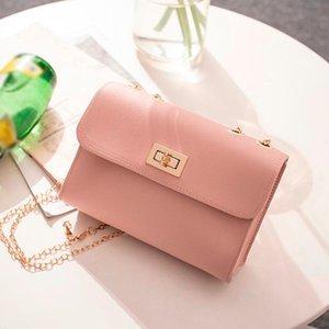 Pelle della moda di New borse di alta qualità dell'unità di elaborazione della catena Donne Bag Small Incenso vento losanga Shoulder Bag di blocco Stereotipi #YJ