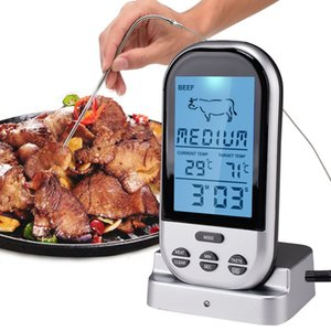 Bluetooth LCD Digital Wireless Oven Thermometer Meat BBQ Grilling Food Probe Kitchen Thermometer Cooking Tools With Timer Alarm