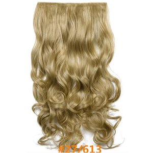 perruque wig bangs fluffy natural wig female Long curly hair, big wavy one-piece wig, invisible, seamless and realistic