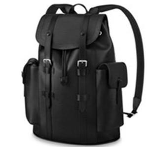 Zaino della spalla di nuovo stile zaino Vintage Bag 41379 Viaggi Zaino borsa Mens Christopher Borsa Schoolbag, Nero