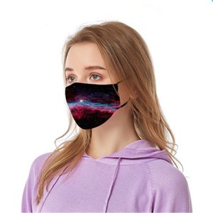 A prueba de polvo máscaras Fa Maske 3 capas de protección facial Er Ski Set del polvo anti Dener Impreso Mout Máscara adultos Fam # 223 # 949